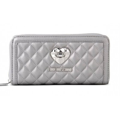 Quilted Wallet - Love Moschino
