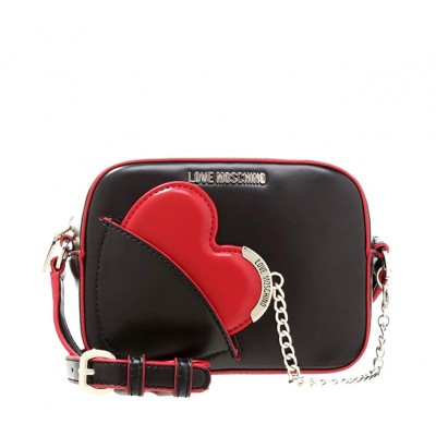 d84f6adcd2f34 HEART BAG LOVE MOSCHINO BLACKWITH HEART SHAPED MIRROR