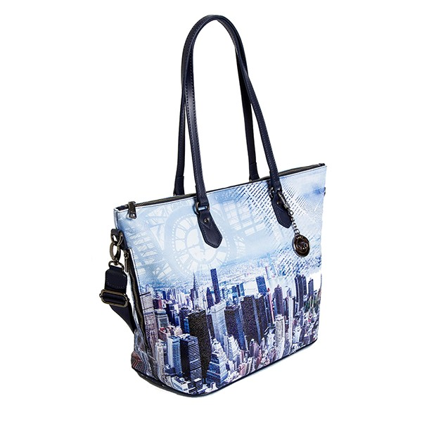New Manici Ynot Tasca Borsa 397 Blue York Manhattan Due Shopping 7vqawax1 f526f24200a