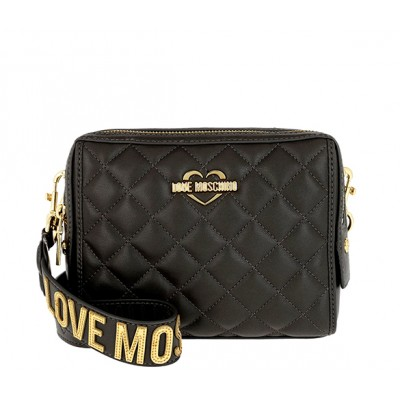 a5509d09c6 QUILTED MINI CROSSBODY BAG LOVE MOSCHINO BLACK