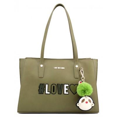 Shopping Bag con charm- Love Moschino