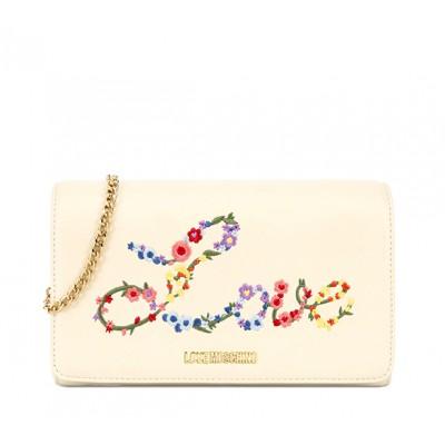 Floral Logo Shoulder Bag - Love Moschino